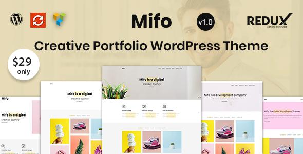 قالب Mifo - قالب وردپرس نمونه کار خلاق و مینیمال