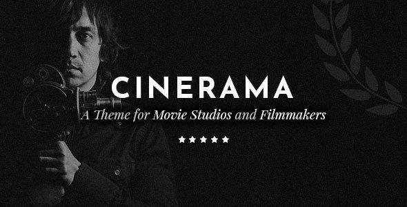 قالب Cinerama - قالب وردپرس استودیو فیلم و و سازندگان فیلم