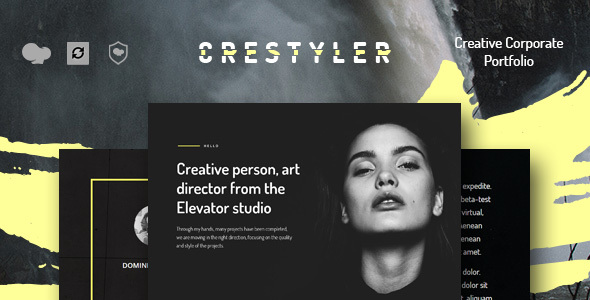 قالب Crestyler - قالب وردپرس نمونه کار خلاقانه