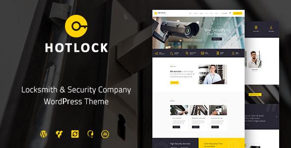 قالب HotLock - قالب وردپرس قفل ساز و سیستم های امنیتی
