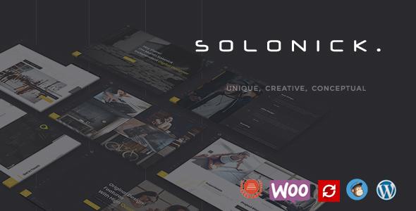 قالب Solonick - قالب وردپرس نمونه کار شخصی