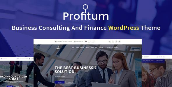 قالب Profitum - قالب وردپرس کسب و کار و مالی