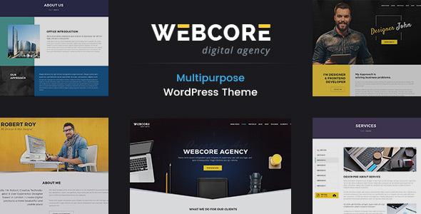 Webcore - قالب وردپرس نمونه کار و آژانس