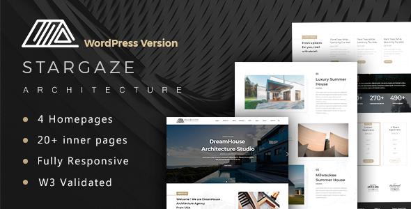 قالب Stargaze - قالب وردپرس معماری و دکوراسیون داخلی