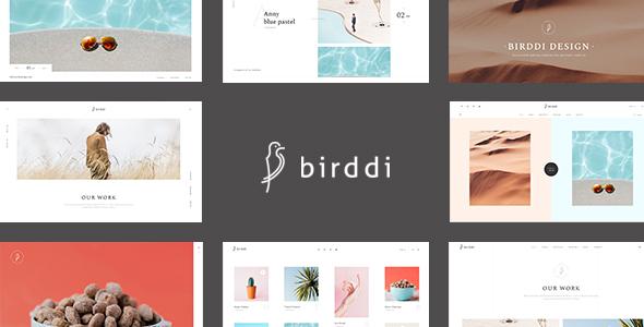 قالب Birddi - قالب نمونه کار وردپرس
