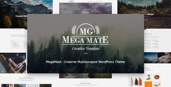 قالب MegaMate - قالب وردپرس چند منظوره و خلاق