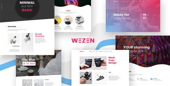 قالب Wezen - قالب وردپرس نمونه کار خلاقانه