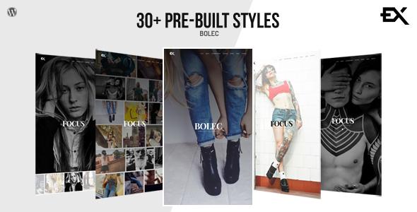 قالب Bolec - قالب عکاسی و نمونه کار وردپرس