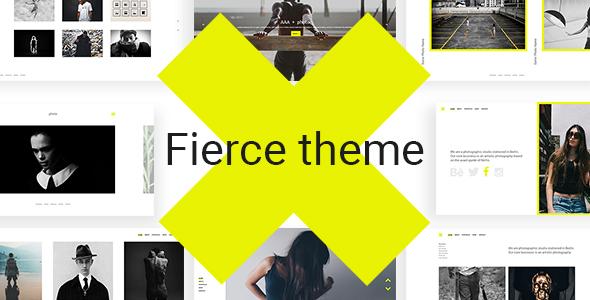 قالب Fierce - قالب وردپرس سایت عکاسی