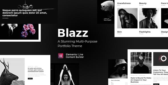 قالب Blazz - قالب وردپرس نمونه کار چند منظوره