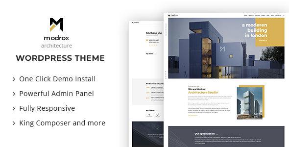 قالب Modrox - قالب وردپرس معماری و دکوراسیون داخلی