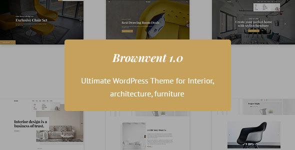 Brownvent - قالب وردپرس فروشگاهی خلاقانه