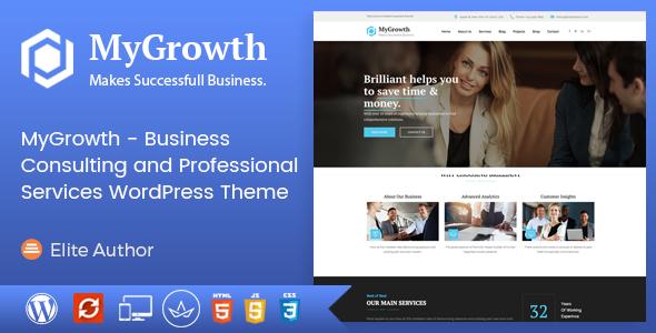 قالب My Growth - قالب وردپرس مشاوره کسب و کار و خدمات حرفه ای
