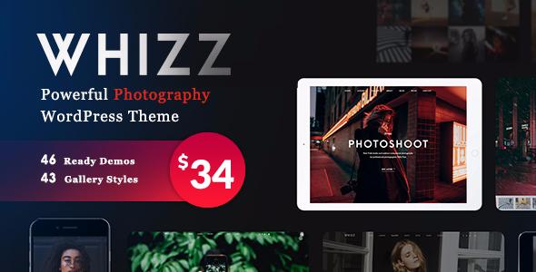 قالب Photography Whizz - قالب عکاسی وردپرس