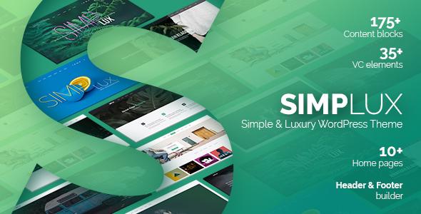Simplux - قالب وردپرس نمونه کار و بلاگ