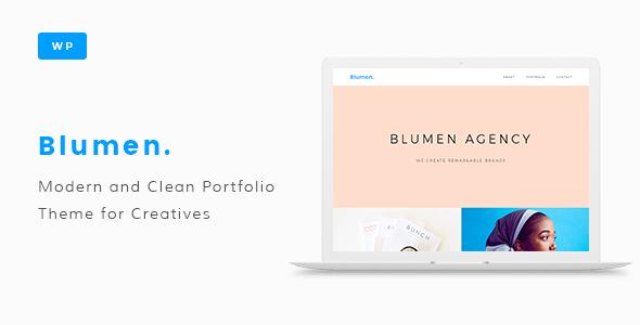 قالب Blumen - قالب وردپرس نمونه کار