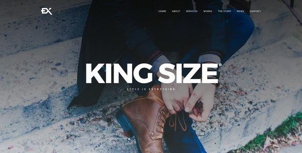 قالب King Size - قالب وردپرس نمونه کار خلاقانه