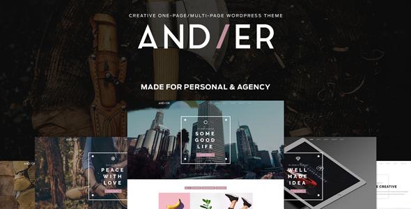 قالب Andier - قالب نمونه کار تک صفحه ای و چند منظوره