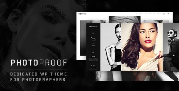 قالب PhotoProof - قالب وردپرس عکاسی