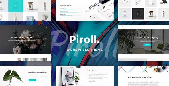 قالب Piroll - قالب وردپرس نمونه کار