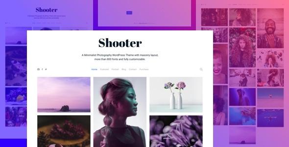 قالب Shooter - قالب وردپرس نمونه کار عکاسی
