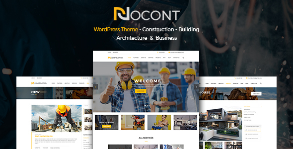 Nocont - قالب وردپرس ساخت و ساز ساختمان