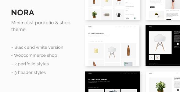 قالب Nora - قالب نمونه کار و فروشگاهی مینیمال