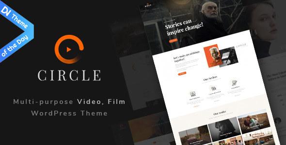 قالب Circle - قالب وردپرس ساخت فیلم و ویدئو