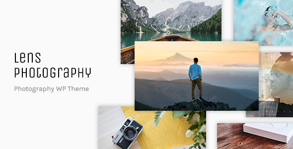 قالب Lens Photography - قالب وردپرس نمونه کار عکاسی