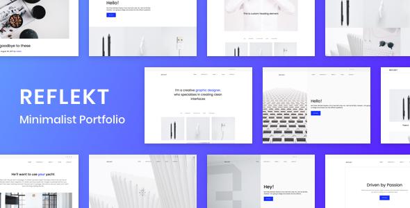 قالب Reflekt - قالب نمونه کار وردپرس مینیمالیست