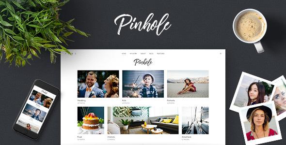 قالب Pinhole - قالب وردپرس گالری برای عکاسان