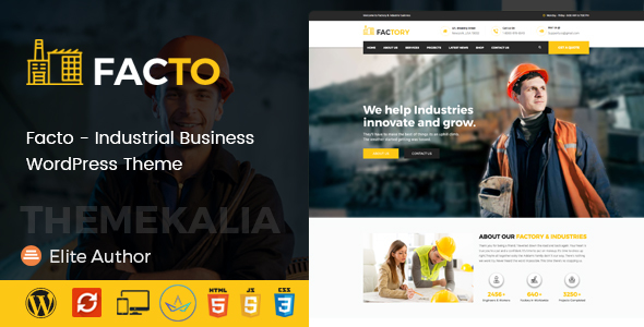 قالب Facto - قالب وردپرس کسب و کار صنعتی