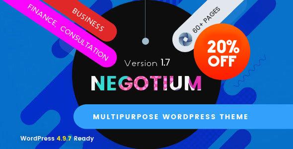 قالب Negotium - قالب وردپرس چند منظوره شرکتی