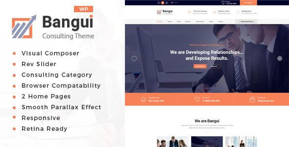 قالب Bangui - قالب وردپرس مشاوره کسب و کار