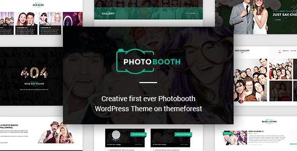 قالب PhotoBooth - پوسته ردپرس غرفه عکاسی