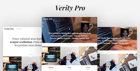 Verity Pro - قالب وردپرس نمونه کار و وبلاگ