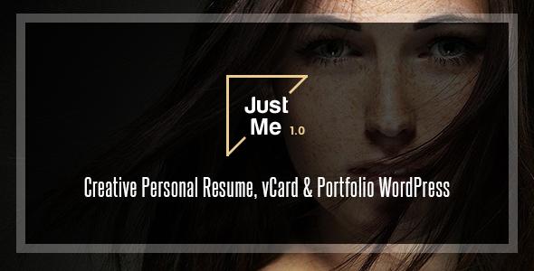 قالب Just Me - قالب وردپرس نمونه کار خلاقانه
