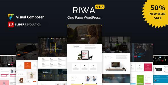 قالب Riwa - قالب وردپرس تک صفحه ای