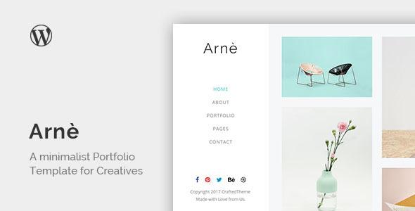 قالب Arne - قالب وردپرس نمونه کار خلاقانه