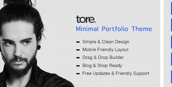 قالب Tore - قالب نمونه کار مینیمال وردپرس