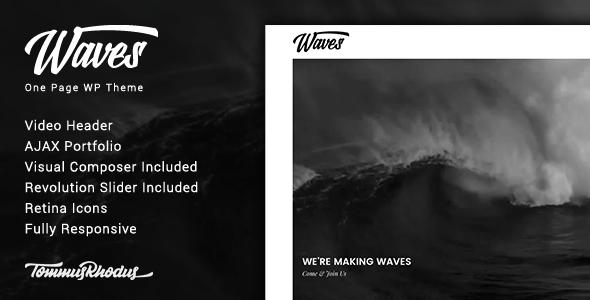 قالب Waves - قالب وردپرس تک صفحه ای ویدئو