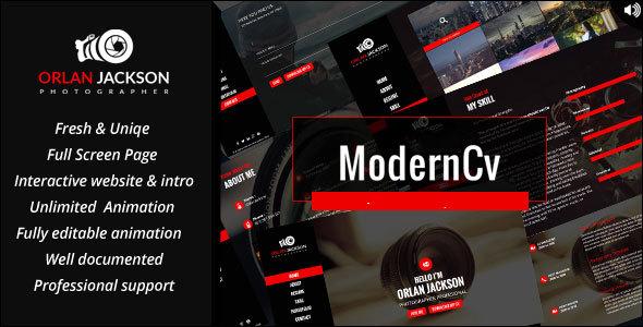 قالب Modern CV - قالب وردپرس نمونه کار شخصی