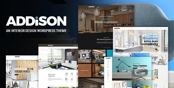 قالب Addison - قالب وردپرس طراحی داخلی و دکوراسیون