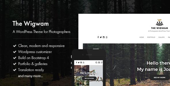 قالب The Wigwam - قالب وردپرس عکاسی چند منظوره