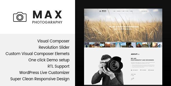 قالب Max Photograpy - قالب وردپرس برای عکاسان