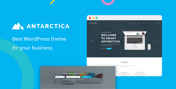 قالب Antarctica - قالب وردپرس نمونه کار کسب و کار