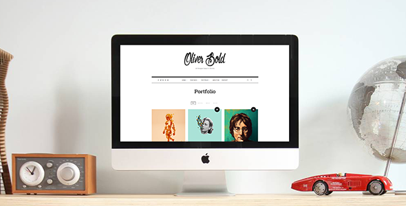 قالب Oliver - قالب وردپرس کلاسیک و مینیمال نمونه کار