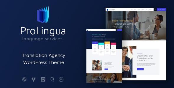 قالب ProLingua - قالب وردپرس خدمات ترجمه