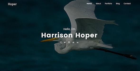 قالب Hoper - قالب وردپرس نمونه کار خلاقانه