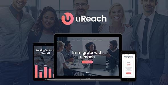 uReach - قالب وردپرس مشاوره مهاجرت